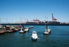 Сцена порта Fremantle Стоковые Изображения RF