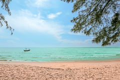 Сцена природы пляжа моря праздник пляжа тропический Стоковые Изображения