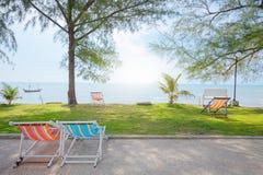 Сцена природы пляжа моря праздник пляжа тропический Стоковое фото RF