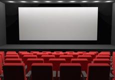 Сцена пробела концепции кинотеатра Бесплатная Иллюстрация