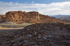 Сцена пустыни Гоби Стоковое Изображение