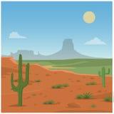 Сцена пустыни Стоковое Фото