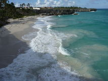 Сцена пляжа в Барбадос, Вест-Индиях стоковая фотография rf