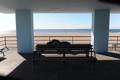 Сцена пляжа океаном на острове кролика, Стоковое Фото