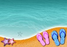 Сцена пляжа Стоковая Фотография RF