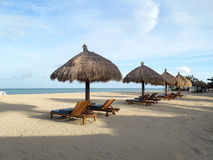 Сцена пляжа Стоковые Изображения RF