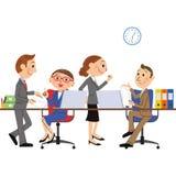Сцена работы бизнесмена Стоковое Изображение