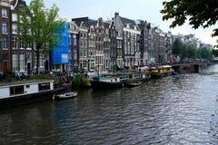 Сцена реки Амстердама, Нидерланды Стоковые Изображения