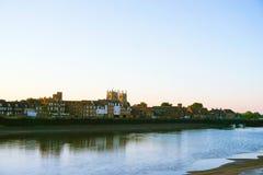 Сцена реки на восходе солнца Стоковое Изображение