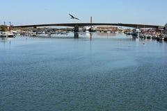 Сцена реки на Tavira, Португалии Стоковые Изображения RF
