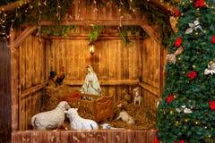 Сцена рождества в Праге Стоковые Изображения RF