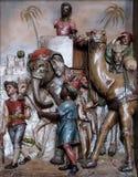 Сцена рождества, приходить королей Стоковые Фотографии RF