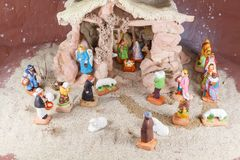 Сцена рождества с провансальскими диаграммами шпаргалки рождества Стоковое Изображение RF