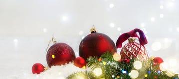 Сцена рождества с снегом Стоковое Фото