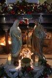 Сцена рождества, Хайфа, церковь Stela Maris Стоковое Фото