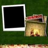 Сцена рождества рамки фото рождества немедленная Стоковое фото RF