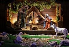 Сцена рождества Стоковое фото RF