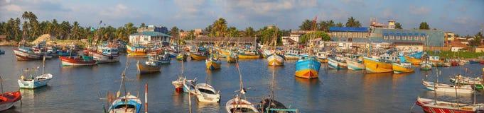 Сцена рыбного порта стоковые изображения rf