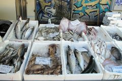 Сцена рынка в Vigevano, Италии стоковая фотография