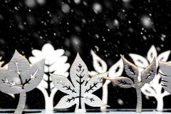 Сцена снега зимы фантазии Стоковая Фотография RF