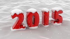Сцена 2015 снежинки иллюстрация вектора