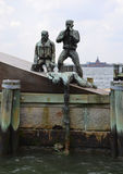Сцена спасения на гавани нового Yorks Стоковая Фотография RF
