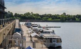Сцена старого порта Монреаля Стоковые Фотографии RF