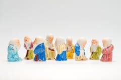 Сцена с старыми китайскими figurines poreclain Стоковые Фото