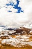 Сцена тибетского плато стоковая фотография rf