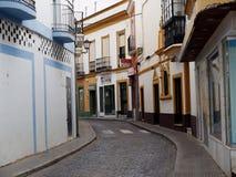 Сцена улицы в Ayamonte Испании Стоковые Изображения RF