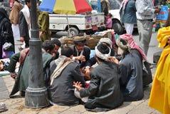 Сцена улицы в Sanaa, Йемене Стоковые Изображения