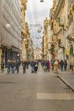 Сцена улицы города Рима городская Стоковые Фотографии RF