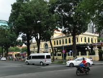 Сцена улицы на офисе Город-столба Хо Ши Мин Стоковые Фото