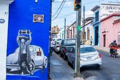 Сцена улицы Оахака Стоковые Изображения