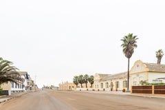 Сцена улицы с гостиницой Prinzessin Rupprecht и Kaserne в Swak Стоковые Фотографии RF
