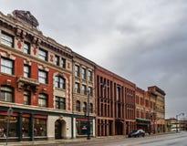 Сцена улицы Binghamton, Нью-Йорка стоковое фото