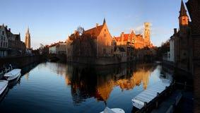 Сцена утра в Brugge Стоковые Изображения RF