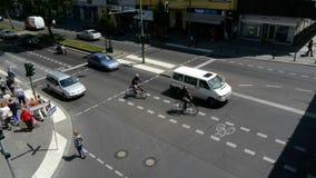 Сцена улицы Берлина видеоматериал