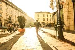 Сцена улицы в Будапеште стоковое изображение