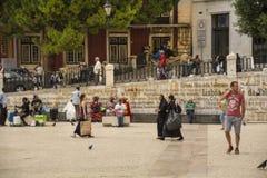 Сцена улицы в Лиссабоне Стоковое фото RF