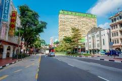 Сцена улицы в Чайна-тауне Сингапура Стоковое Фото