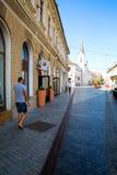 Сцена улицы в Oradea стоковая фотография