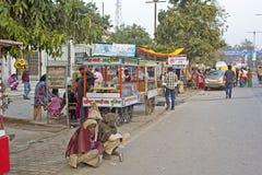Сцена улицы в Vrindavan Стоковое фото RF