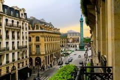 Сцена улицы Парижа Стоковое фото RF