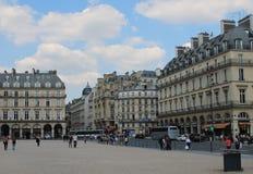 Сцена улицы Парижа стоковые фотографии rf