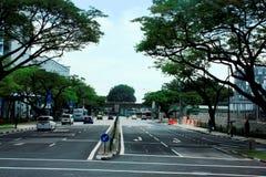 Сцена улицы Сингапура Стоковые Изображения