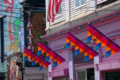 Сцена улицы: Треска накидки 3 P-городка Стоковое Изображение RF