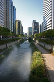 Сцена улицы, Jung-du, Сеул, Южная Корея стоковые фотографии rf