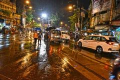 Сцена улицы Kolkata стоковые изображения rf