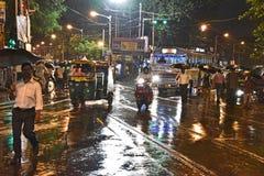 Сцена улицы Kolkata стоковые фотографии rf
